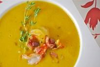 Крем супа от тиква с морски дарове