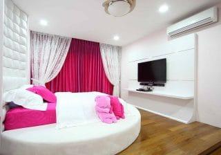 романтична розова спалня