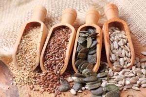 Тиквени, сусамови и слънчогледови семена
