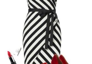 Черно и бяло с акцент от червено – супер секси идеи
